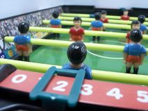 Jeu de table du football Photo stock