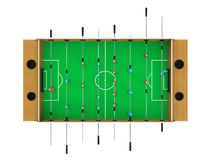 Jeu de Tableau du football de Foosball d'isolement Photo libre de droits