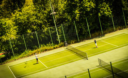 Jeu de tennis Photo stock