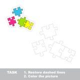 Jeu de trace de vecteur Puzzle à tracer Photo stock