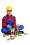 Jeu de travailleur de la construction Photos libres de droits
