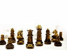Pièces d'échecs Photographie stock libre de droits