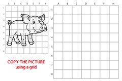Jeu drôle de porc Photo libre de droits
