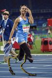 Jeu 2016 du Brésil - du Rio De Janeiro - de Paralympic athlétisme de 400 mètres Image libre de droits