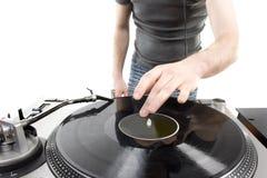 Jeu du DJ Photographie stock libre de droits