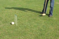 Jeu du jeu de croquet Photo stock