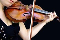Jeu du violon images stock