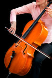 Jeu du violoncelle Photographie stock libre de droits