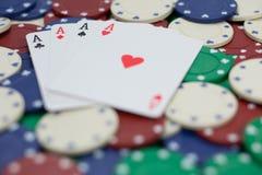 Jeu et fond de casino Photos libres de droits
