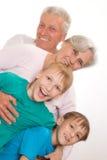 Jeu heureux de famille Images libres de droits