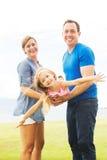 Jeu heureux de famille image libre de droits