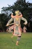 Jeu masqué classique thaïlandais au parc historique de Phimai, Thaïlande Image libre de droits