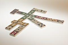 Jeu mexicain de domino de train Photos libres de droits