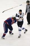 Jeu occidental de la Ligue de Hockey (WHL) Images stock