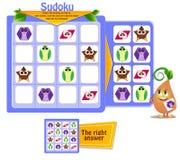 Jeu Q.I. de Sudoku de formes illustration libre de droits