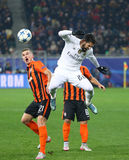 Jeu Shakhtar de ligue de champions d'UEFA contre le Real Madrid Photos stock