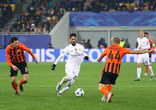 Jeu Shakhtar de ligue de champions d'UEFA contre le Real Madrid Images stock