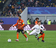Jeu Shakhtar de ligue de champions d'UEFA contre le Real Madrid Photo stock