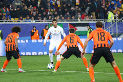 Jeu Shakhtar de ligue de champions d'UEFA contre le Real Madrid Photo libre de droits