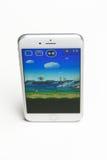Jeu superbe de Mario Run sur l'iPhone Images libres de droits