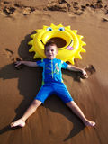 Jeu sur la plage Images stock