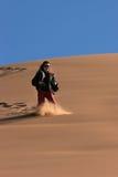 Jeu sur les dunes image libre de droits