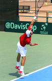 Jeu Ukraine v Autriche de tennis de Davis Cup Photo libre de droits