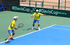 Jeu Ukraine v Autriche de tennis de Davis Cup Photos stock
