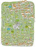 Jeu urbain de labyrinthe de paysage Photo stock