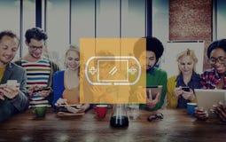 Jeu vidéo commandant le concept de jeu de Joypad Image libre de droits
