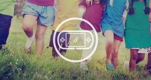 Jeu vidéo commandant le concept de jeu de Joypad Photos stock