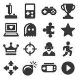 Jeu vidéo et contrôleur Icons Set Vecteur Photos stock
