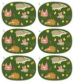 Jeu visuel de paires de match : Forest Animals Illustration Libre de Droits