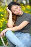 Jeugdig Filipina Female Wondering royalty-vrije stock fotografie
