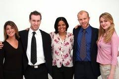Jeune équipe d'affaires - 5 personnes photographie stock libre de droits