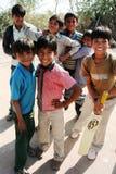 Jeune équipe de cricket Image stock