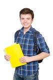 Jeune étudiant With Book Photographie stock
