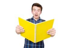 Jeune étudiant With Book Images libres de droits