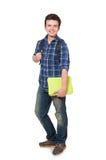 Jeune étudiant With Book Photos stock