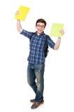 Jeune étudiant With Book Image stock