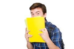 Jeune étudiant With Book Image libre de droits