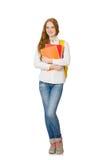 Jeune étudiant d'isolement Image stock