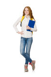 Jeune étudiant d'isolement Image libre de droits