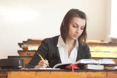Jeune étudiant féminin Image libre de droits