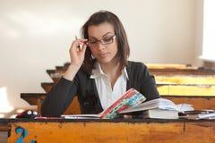 Jeune étudiant féminin Images stock