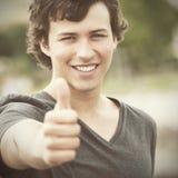 Jeune étudiant heureux Photographie stock