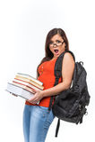 Jeune étudiant universitaire féminin attirant image libre de droits