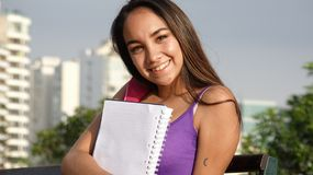Jeune étudiante images libres de droits