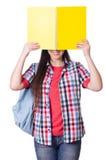 Jeune étudiante d'isolement Photo stock