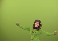 Jeune être humain heureux Photographie stock libre de droits